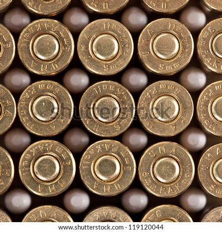 cartridge pistol police revolver firearm on white background - stock photo