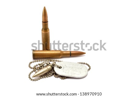 cartridges and chip on a white background