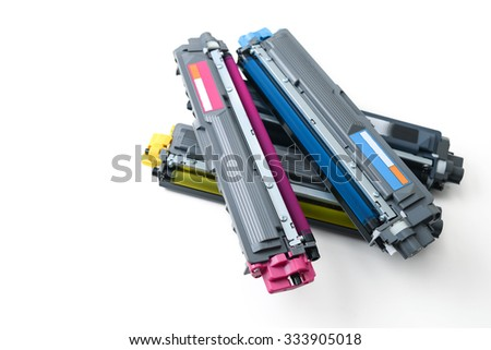 cartridges of color laser printer