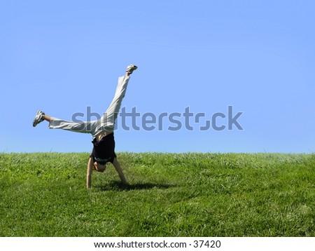 Cartwheel - stock photo