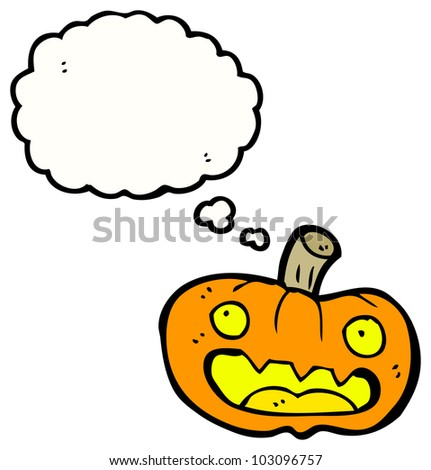carved pumpkin cartoon