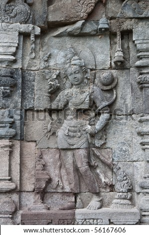 Carved stone at Borobudur, Jogjakarta Indonesia