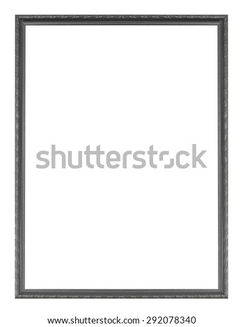 Carved wooden Picture frame isolated on white background. - stock photo