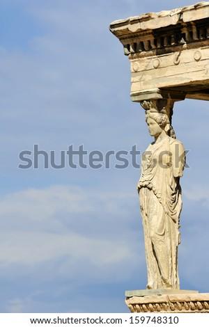 Caryatid, Acropolis of Athens, Greece - stock photo