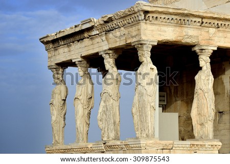 Caryatides at Acropolis of Athens, Greece