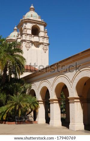 Casa del Prado; Balboa Park; San Diego, California - stock photo