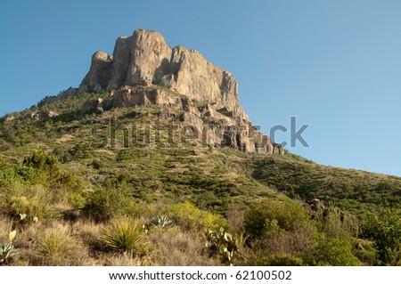casa grande peak - stock photo