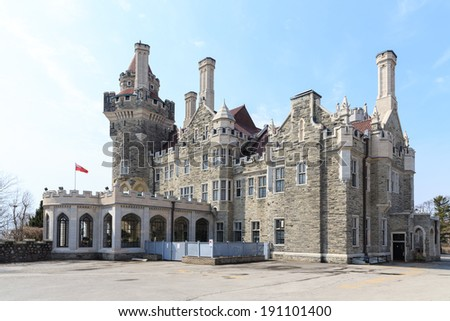 Casa Loma Castle in Toronto, Canada - stock photo