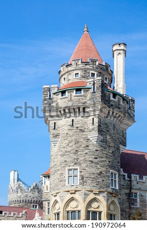 Casa Loma in Toronto, Ontario, Canada. - stock photo