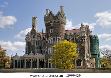 Casa loma - small castle in Toronto, Canada - stock photo