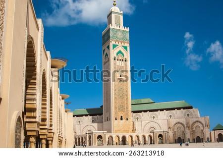 CASABLANCA/MOROCCO APRIL 4TH 2006 - Hassan II Mosque - stock photo