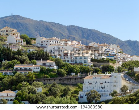 CASARES, ANDALUCIA/SPAIN - MAY 5 : View of Casares in Spain on May 5, 2014