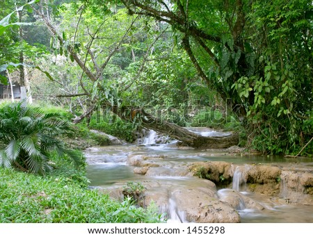 Cascadas de Agua Azul waterfall, Chiapas, Mexico - stock photo