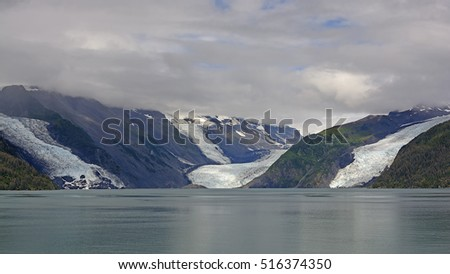 Cascade, Barry, and Coxe Glacier in Prince William Sound in Alaska