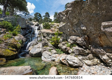 Clear mountain pool waterfall stock images royalty free - Crystal pools waterfall ...