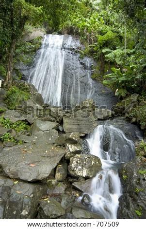 Cascade El Yunque Puerto Rico - stock photo