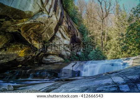 Cascade falls living waters balsam grove stock photo royalty free cascade falls living waters balsam grove north carolina publicscrutiny Image collections