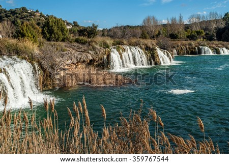 cascade in the lagoons of Ruidera, Spain