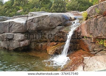 cascade of rocks - stock photo