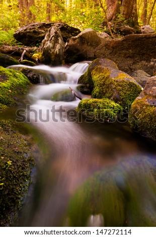 Cascades on South River, Shenandoah National Park, Virginia. - stock photo