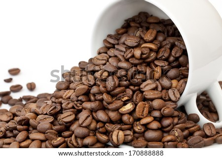 Cascading Coffee Beans