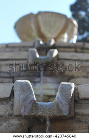 Cascading fountain - stock photo
