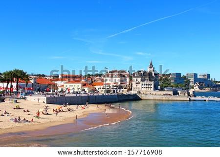 Cascais beach, Lisbon, Portugal - stock photo