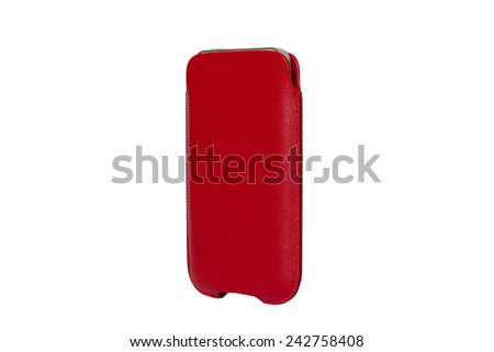 Case for smartphone. For mobile phone iphon, on a white background - stock photo