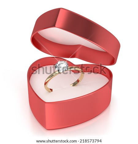 Case with ring - stock photo