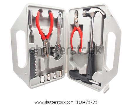 case with the tool on a white background