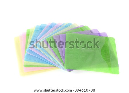 Cases CD pastel isolated on white background. - stock photo