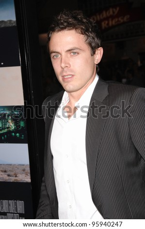 "CASEY AFFLECK at the Los Angeles premiere of ""Babel"". November 5, 2006  Los Angeles, CA Picture: Paul Smith / Featureflash"