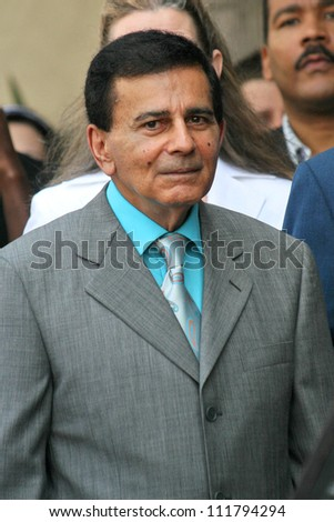 Casey Kasem at the Ceremony honoring Mike Curb with a star on the Hollywood Walk of Fame. Vine St, Hollywood, CA. 06-29-07 - stock photo