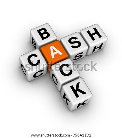 cash back label - stock photo