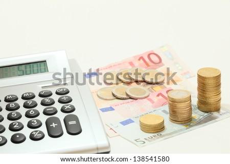 cash calculating - stock photo