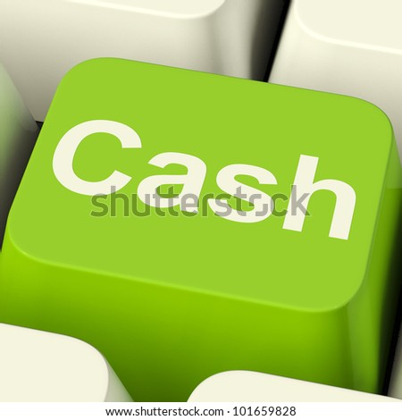Cash Computer Key As Symbol For Currencies And Finance - stock photo