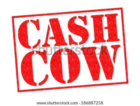 CASH COW red Rubber Stamp over a white background.