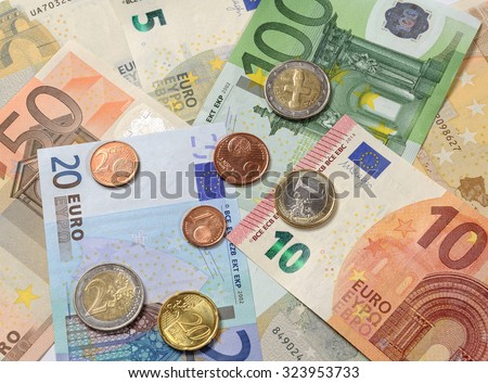 Cash Currency Euro, shallow DOF