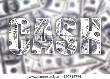 Cash dollars creative conceptual illustration - stock photo