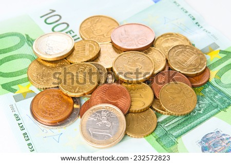 Cash Euro closeup