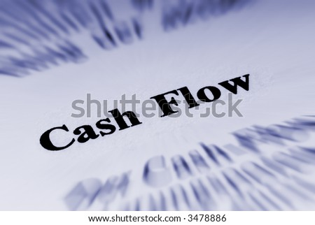 Cash flow - stock photo