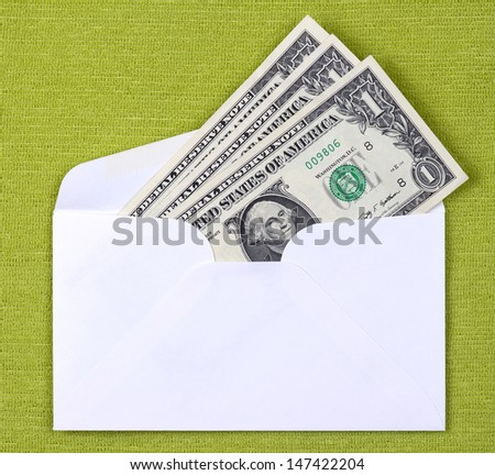 cash in an envelope - stock photo
