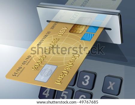 cash-machine - stock photo
