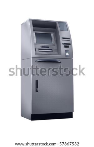 cash machine isolated high resolution - stock photo