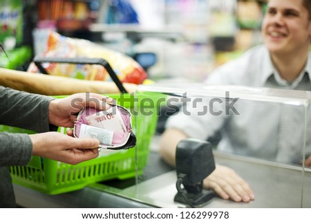 Cash only - stock photo