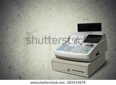 Cash Register, Register, Wealth. - stock photo