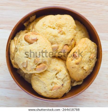 Cashew Nut Cookies - stock photo