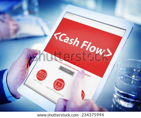 Cashflow Investing Banking Money Revenue Investment Concept - stock photo