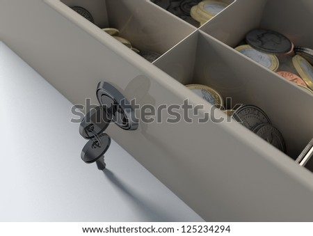 Cashier Drawer - stock photo