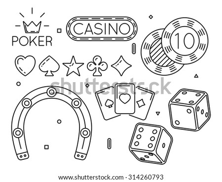 Casino and poker club icons